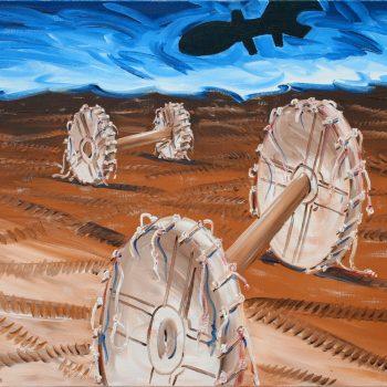 Thomas Michel, Cart-Ruts, Öl auf Leinwand, 2003, 80 x 100 cm
