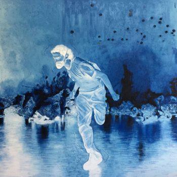 Thomas Michel, Dies Irae, Öl auf Leinwand, 2017, 110 x 165 cm