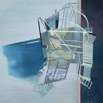 Teresa Casanueva, Attitude, 2017, Oil on Canvas, 80 x 80 cm