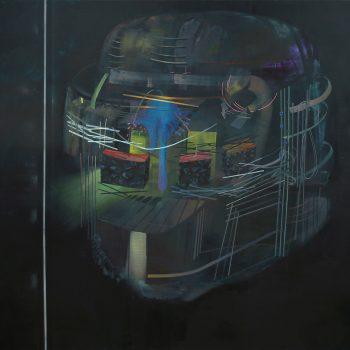 Teresa Casanueva, Rainfall, 2017, Oil on Canvas, 170 x 190 cm