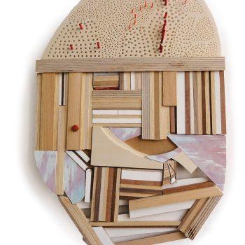 Teresa Casanueva, Des-figurar III, 2016, wood, 42 x 27 x 1,5 cm