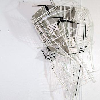 Teresa Casanueva, Big Mouth, 2017, card board print, 70 x 50 cm